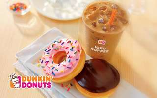 Two (2) Donuts + One (1) Regular Cold Brew Coffee / Iced Coffee