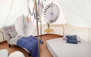 Punggol Lake: (Fri - Sun) 2D1N Staycation in an Air Conditioned Big Bell Tent for 4 People