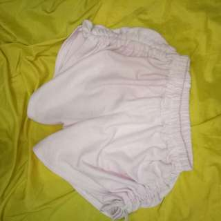 cute pink short with adjustable ribbon on sides