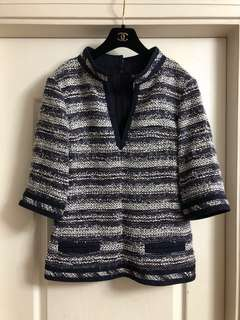 Chanel tweed top used Sz 40