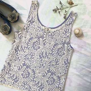 Miss Shop Blue Lace Top