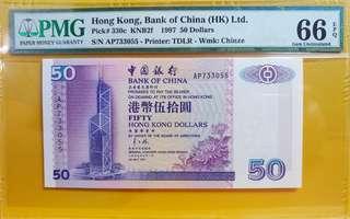 (97騎版) 1997年 中國銀行 $50 AP版