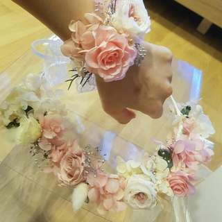 Wedding Accessories  (Boutonniere,haircomb ,head Band , Bouquet For Bride ) Preserved Flowers