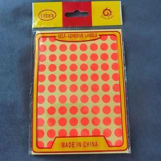 round sticker labels