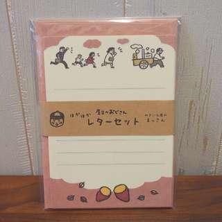 購自日本温暖插畫信紙set