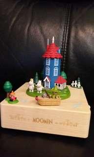 Moomin  wooderful life木質音樂盒擺設~姆明一族Music box