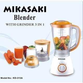 Preorder Mikasaki KD313A 3 in 1 Blender