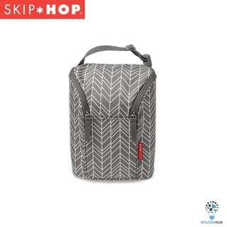 Skip Hop Grab & Go Double Bottle Bag | Grey Feather [BG-SH205310]