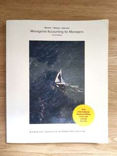 Managerial Accounting for Managers Fourth Edition