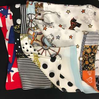 53*53 100% silk Scarf 包帶頭飾絲巾