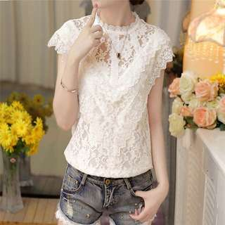 V- Lace Layers Victorian Top
