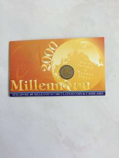 SINGAPORE $5 MILLENNIUM CIRCULATION COIN & CASHCARD