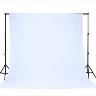 BN White Muslin Backdrop Cloth (3m x 5m) + Optional add on