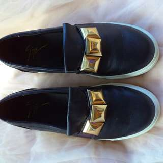 Giuseppe Zanotti leather accent loafers