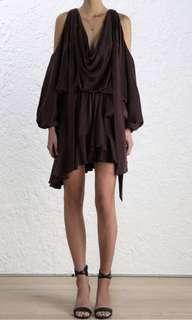 Sueded billow dress