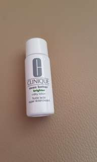 Clinique brighter milky lotion 7ml