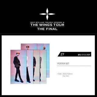 [WTS Fast] BTS Wings Tour Final Poster LOOSE
