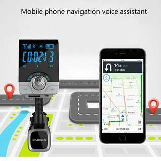 Patented product BT68 vehicle Bluetooth MP3 2.1A charging function