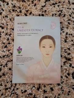 Dewytree Lavender Extract Face Mask