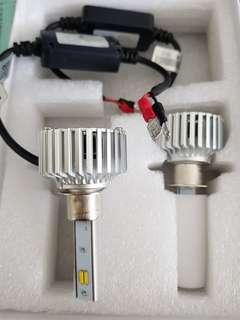🚚 終極爆亮聚光型三色 LED大燈 60W 9000LM 德國進口 SSC Led晶片