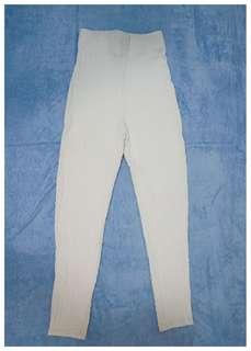 White High Waisted Leggings