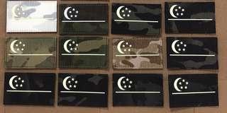 Laser cut GITD SG Flag Patch