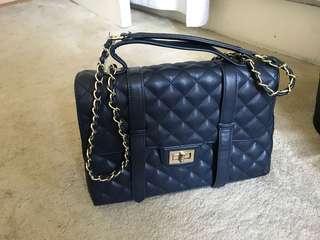 Navy blue women's handbag