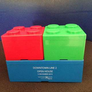 Stackable lego containers