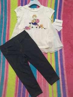 BN Savannah top and leggings set/2t