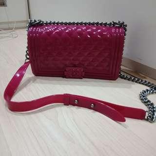 Chanel jelly bag in fuschia