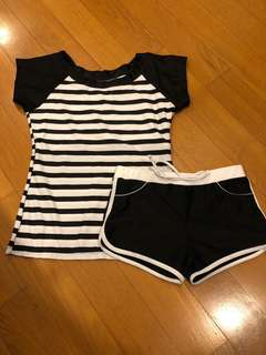 Swimsuit set with bustpad