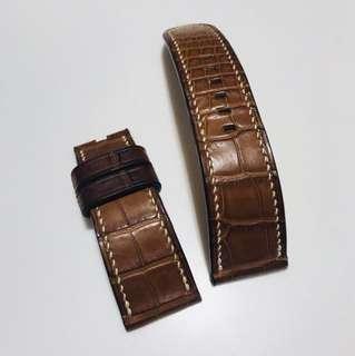 Panerai 適用美州真鱷魚皮錶帶 26mm。