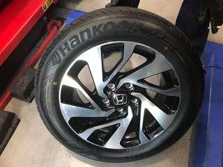 "Honda Stock 16"" Rims (With Hankook Tyres)"