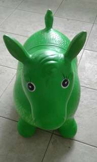 """rody"" inflatable bouncing toy horse"
