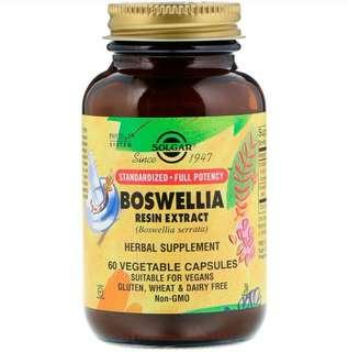 Solgar, Boswellia Resin Extract, 60 Vegetable Capsules(Instock)