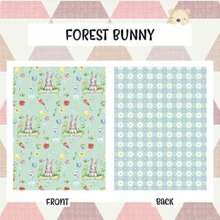 🚚 BABY BLANKET Personalised customised gift present fleece minky newborn gift bunny rabbit