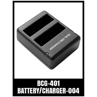 GP TELESIN DUAL BATTERY CHARGER FOR 401 BCG-401