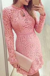 Brand New Pink Lace Dress