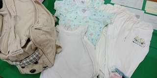 Baby singlet dan celana panjang bonus tas