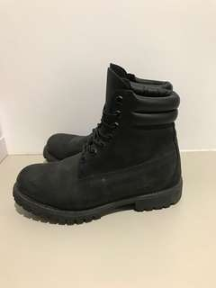 Black Timberland Double Cuff Boot