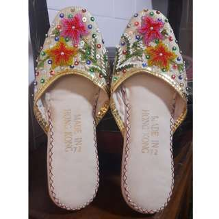 Vintage beaded slippers