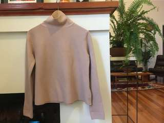 Cos Xs baby pink turtle neck pullover