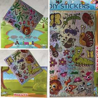 DIY Stickers (Insects & Animals)