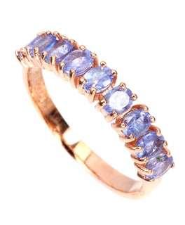 Elegant Rich Blue Violet Tanzanite Ring US7.5