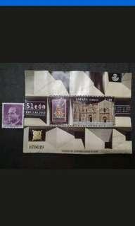 2013 Espana Exposicion Filatelica Nacional Minisheet - 2v Used Stamps