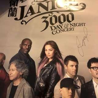 衛蘭 演唱會 親筆簽名 海報 3000 Day&Night