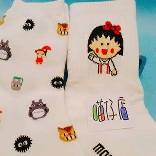 🚚 小丸子 龍貓  襪子 二雙