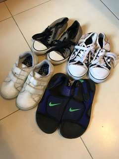 5pairs 6-8 yr old shoes sandals Nike Zara
