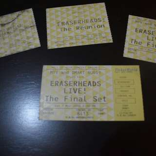 Eraserheads The Final Set UNUSED TICKET! Collector's Item
