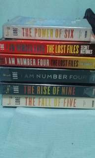 *I am number four (Motion Picture) *Power of 6  *Rise of Nine *Fall of Five *I am number 4 the lost files, Secrect Histories *I am number four the lost files, the legacies